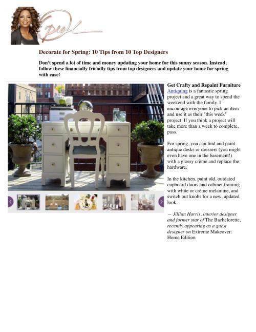Molise PR Client Jillian Harris Debuts as New Designer on ABC\'s ...
